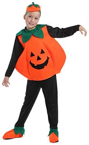 Kürbis - Kinder Halloween Kostüm - Small - (Kinder Sport Für Kostüme)