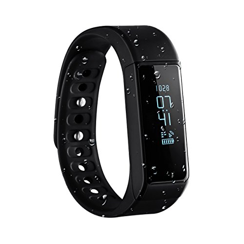 Braccialetto Sport OMorc Bracciale Fitness Smart Bluetooth 4.0 IP65 Impermeabile, Braccialetto Intelligente con OLED Schermo Fitness Tracker Remote Camera, per iPhone Android Smartphone, Compatibile con IOS 8.0 e Superiore, Android 4.3 e Sopra, Nero