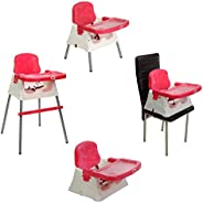 LuvLap 4 in 1 Convertible High Chair Cum Booster Seat (Pink)