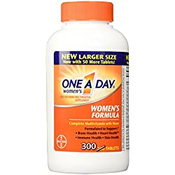 Bayer One A Day Women's Formula Multivitamin For Under 50 Age, 300 Tablets