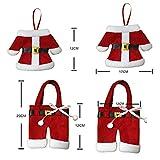 StillCool Weihnachten Bestecktasche Taschen Tischdekoration 6pcs Sankt-Klage Weihnachten Dekoration Tischdeko Besteck Kostüm Kleine Hosen und Kleidung Besteck-Sets - 6