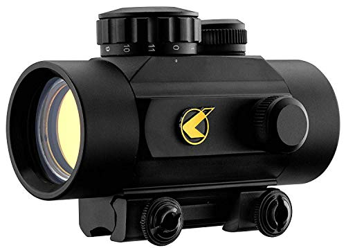 Lunette de Tir Gamo Quick Shot Red Dot BZ 30mm - avec Bouchon Objectif et Rail de Montage - Lorsque vous allumez un point rouge / orange vif apparaît au centre de votre champ. C'est votre point de visée. C'est juste très simple et très précis.