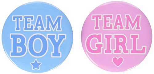 396798 Buttons (Gender Reveal Party Supplies)