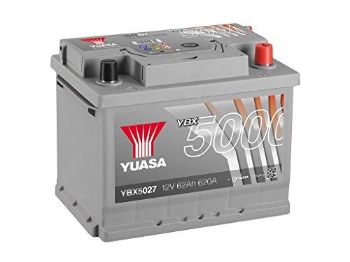 Yuasa YBX5027High performance starter batteria, argento