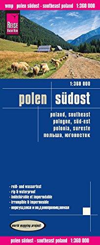 Polonia Sureste, mapa de carreteras impermeable. Escala 1:360.000. Reise Know-How.