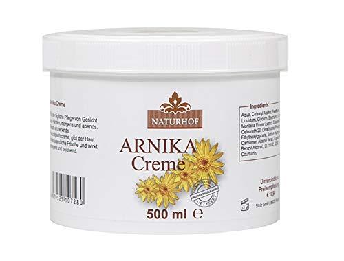 Arnika Creme 500ml Hautpflegecreme von Naturhof - Arnika Gel Feuchtigkeitscreme