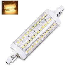 BRIGHTINWD R7S LED 118mm Regulable 10W 950-1000LM Blanco cálido Reemplazar lámpara halógena Garantía de 3 años