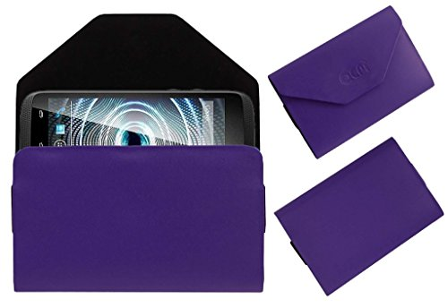 Acm Premium Pouch Case For Xolo Q700 Club Flip Flap Cover Holder Purple  available at amazon for Rs.179