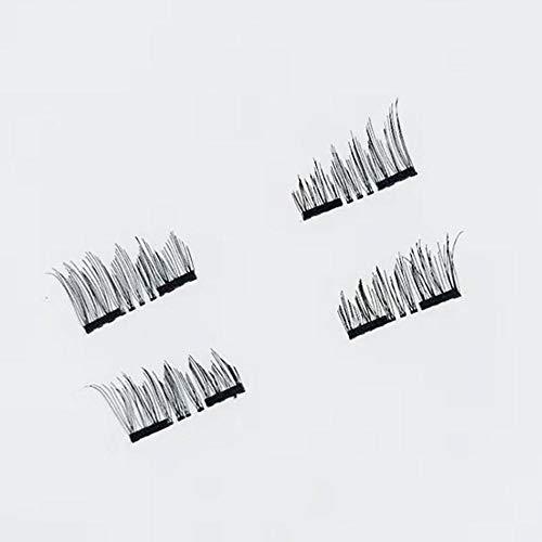 8 STÜCKE 3D Magnetische Falsche Wimpern Doppel Magnetische Wimpern Reine Handarbeit Für Schwarze Farbe