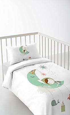 DREAMLAND Funda nórdica + funda de almohada + sábana bajera (Cuna 60cm)
