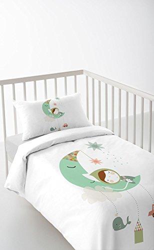DREAMLAND Funda nórdica + funda de almohada + sábana bajera Cuna 60cm