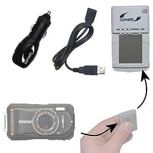 Le chargeur à batterie pour le Pentax Optio W90