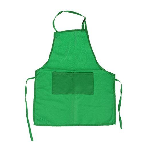 Tablier Enfant pour Cuisine Peinture Blouse Artisanat - Vert