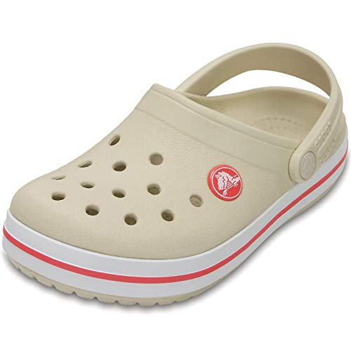 crocs Crocband Clog Kids, Unisex-Kinder Clogs, Beige (Stucco/Melon), 28/29