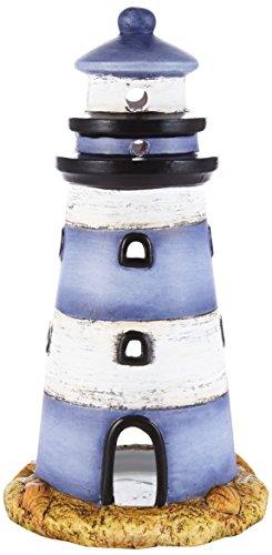 Heitmann Deco - Windlicht'Leuchturm' aus Keramik - sehr schöne maritime Deko - als Tischdeko und für Wohnzimmer