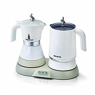 Ariete 1344 Breakfast Station 3-in 1 Espressokocher, Wasserkocher, Milchaufschäumer, plastic 250 milliliters, Weiß
