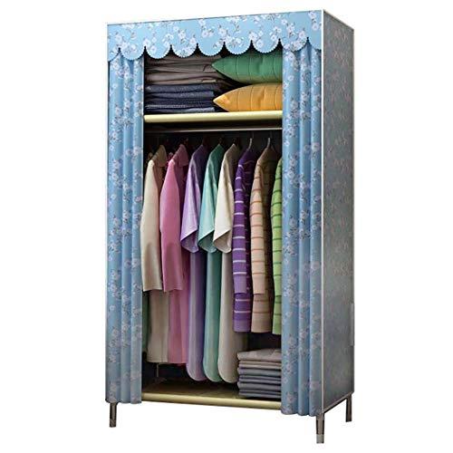 DPPAN Portable Storage Closet, Kleine Größe Verdicken Schattierung Tuch Kleidung Veranstalter Kleiderschrank Regale, Kleidungsstück Organizer,E_31.5