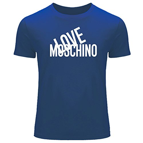 Love moschino tops t shirts - t-shirt - uomo blue large