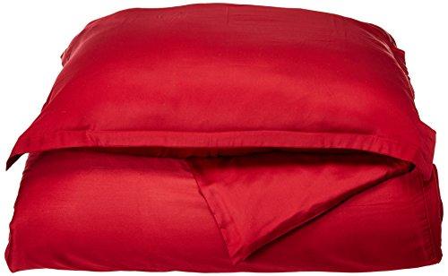 Kaschmir Twin-set (Brielle Satin 100% Modal aus Buche Betten, dunkelrot, Twin Duvet Cover Set)