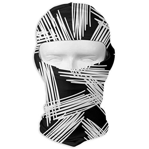 Sitear Schwarz Weiß Malerei Textur Angepasst Vollmaske Hood Neck Warm Für Männer Und Frauen Outdoor Sports Windproof Sunscreen