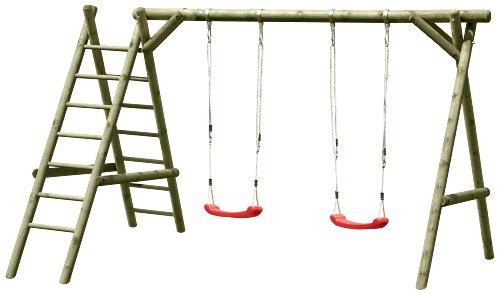 Gartenpirat Schaukelgestell Classic 2.2 Doppelschaukel mit Leiter