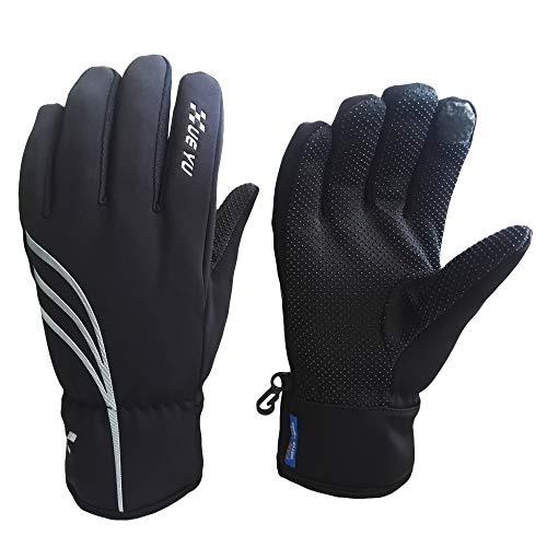 Warme Winter-handschuhe (TIABO Fahrradhandschuhe Winter Handschuhe Skihandschuhe laufhandschuhe Männer Frauen Touchscreen Warm und Winddicht Wasserdicht für Thermisch Radsport Skifahren Snowboard Laufen Camping Outdoor Sport)