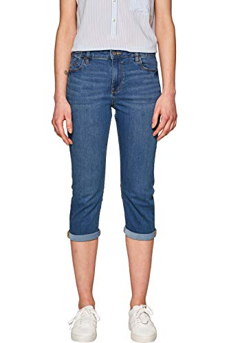 edc by ESPRIT Damen 039CC1B030 Straight Jeans, Blau (Blue Medium Wash 902), W28 (Herstellergröße: 28)