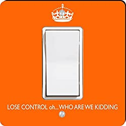 Rikki Knight Keep Calm Oh Who Are We Kidding Single Rocker Light Switch Plate, Orange