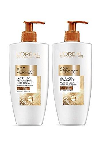 L'Oréal Paris Body Expertise Age Perfect Lait Réparateur Soin pour Corps 250 ml - Lot de 2