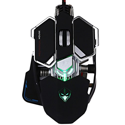 Yusun 4000 DPI 10 Knöpfe LED optische Professionelle USB Gaming-Maus (schwarz) - Wheel Usb Wired Optical Mouse
