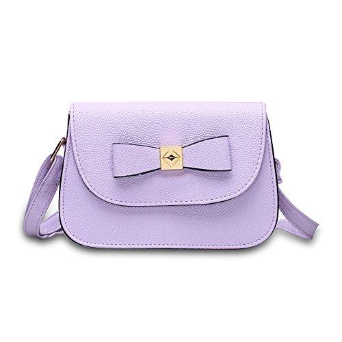 Moda farfallino colore puro baodan borsa a tracolla (colori assortiti)-Nero porpora