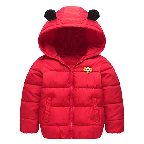 CARETOO Kinder Daunenjacke Winterjacke Snowsuit Oberbekleidung Mantel mit Elefant Logo für Jungen Mädchen