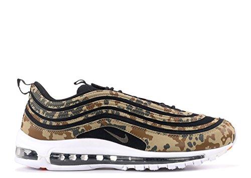 Nike Air Max 97Premium QS Chaussures de Course Aj2614Sneakers Chaussures Bamboo/Black-DK Khaki-Sequoia