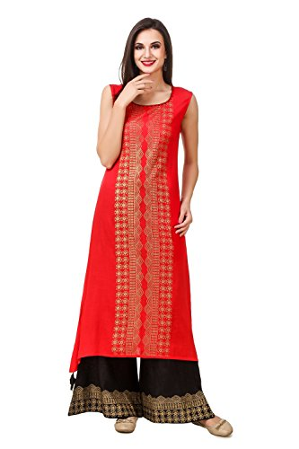 Sreshee Women's Premium Cotton Kurti with Palazzo Pants Set