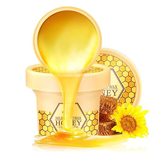 Dailyinshop Sanfte natürliche Milch-Honig-Maske Hand Moisturizing Hand Waxing Peeling abgestorbene Haut Ernähren Feuchtigkeitsspend Brightening Handpflege