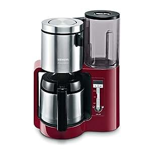 Siemens TC86504 Kaffeemaschine / 1100 Watt / 8-12 Tassen / Edelstahl-Thermokane / cranberry red