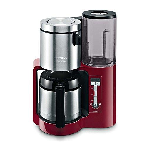 Siemens TC86504 Kaffeemaschine (Edelstahl Thermokanne, Uhrfunktion, für 8-12 Tassen, automatische Abschaltung, 1.100 Watt) rot