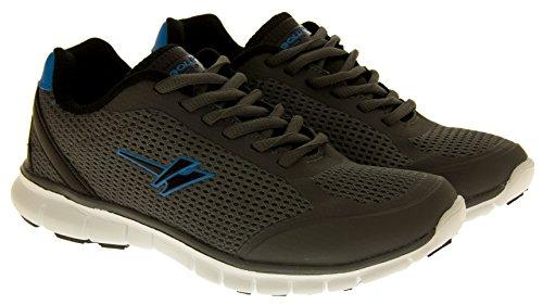 Anciennes pour garçons GOLA Baskets Chaussures de cours'à pied/Fitness plats Taille 2 3 4 5 6 Gris - Grey & Blue