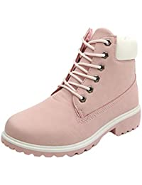 2018 Otoño Invierno Zapatos Mujeres Botas de tacón Plano Martin Boots Botines Combat Hiking Work High Top Desert Lace up Shoes