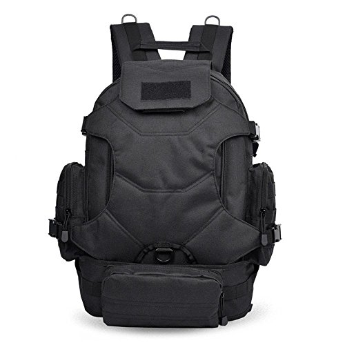 Outdoor Rucksack Large Capacity Travel Bergsteigen Tasche Camouflage Tasche Casual Computer Rucksack Black