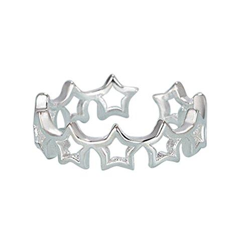 bar Größe Niedliche fünfzackige starwomen Ring Weihnachten Valentinstag Geburtstag Geschenk (Niedlich Passenden Outfits Familie)