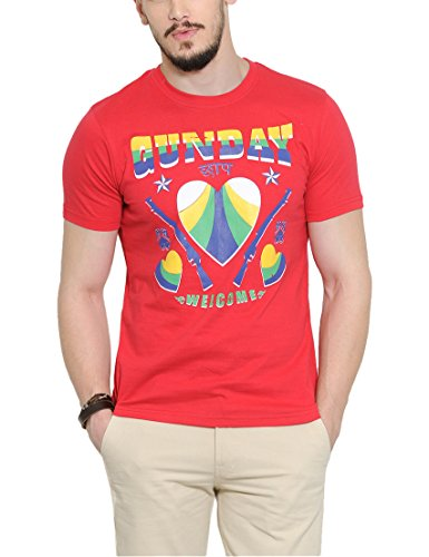 Yepme Men's Red Graphic T-shirt -YPMTEES0244_S  available at amazon for Rs.179