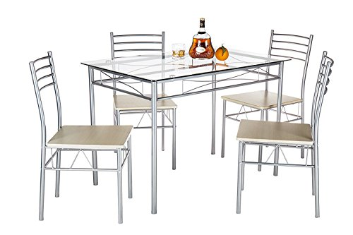 Pleasing Dining Table Set Vecelo Pc Glass Table And  Chair Sets Metal  With Exciting Prev With Astounding Octopus Garden Also Covent Garden Holiday Inn In Addition Canton Garden Mirfield And Enchanted Gardens As Well As White Stones Garden Additionally Garden Journal App From Cheapcornersofascouk With   Exciting Dining Table Set Vecelo Pc Glass Table And  Chair Sets Metal  With Astounding Prev And Pleasing Octopus Garden Also Covent Garden Holiday Inn In Addition Canton Garden Mirfield From Cheapcornersofascouk