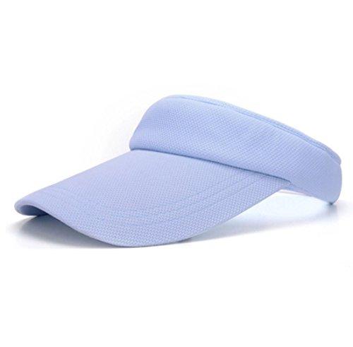 QQBL Summer Outdoor Solar Sports Top Baseball Cap Sun Hat Sun Hat Solid Color Adjustable Cotton Sun Hat 0.07 Kg Unisex, Blue