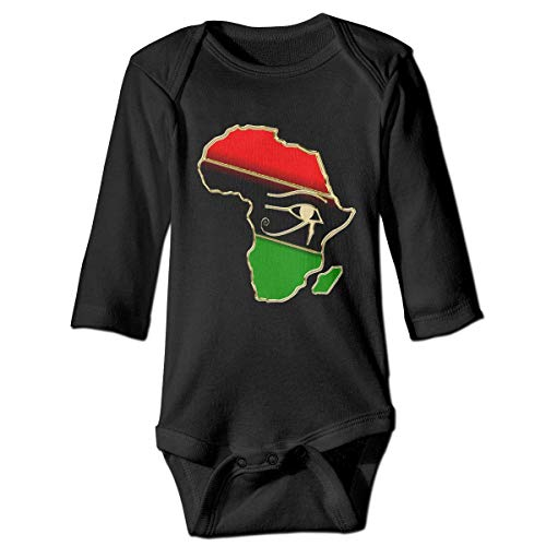 WBinHua Bodysuits Baby Body, Bertha Eye of Horus Africa Map Baby Newborn Long Sleeve Onesies Bodysuits
