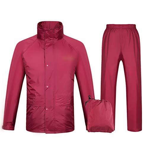 GLLL-raincoat Herren/Damen wasserdichte Jacke/Hosenanzug Windbreaker/Hosenanzug Motorrad Regenmantel Und Versteckte Kapuze (Color : B, Size : XXXL) -