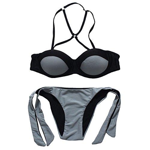 KUWOMINI.Europe Und Die Vereinigten Staaten Frauen Badeanzug Stahlpflege Sammeln Bademode Grey