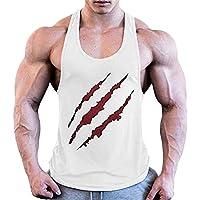 JIER Liquidación Camiseta sin Mangas con Estampado de Culturismo para Hombre Camiseta sin Mangas de Entrenamiento Chaleco sin Mangas