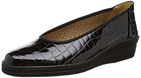 Gabor Piquet, Mocassins (loafers) femme - Noir (Black Alligator Patent) - 42 EU (Taille Fabricant : 8 UK)