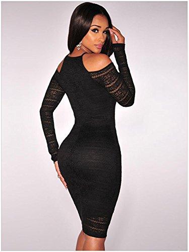 KingField - Robe - Moulante - Femme Noir - Noir